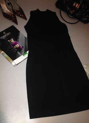 Облегающее платье футляр с кружевным верхом.1082