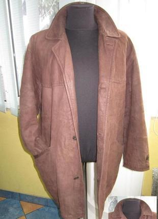Утеплённая кожаная мужская куртка harvest. лот 334