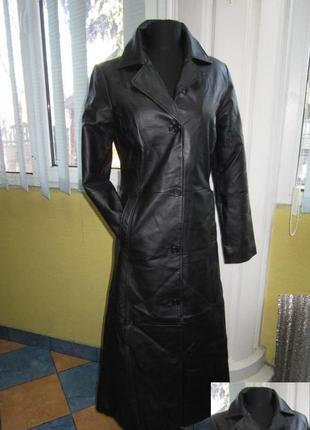 Стильная  женская кожаная куртка-плащ. германия. лот 322