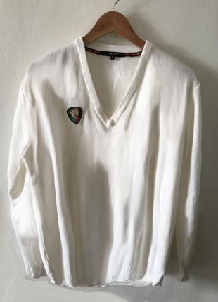 Белый пуловер gucci