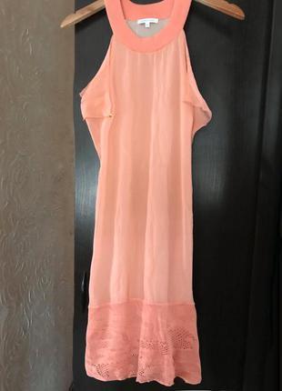 Шелковое платье пудрового цвета  patrizia pepe {италия}
