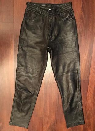 Французские кожаные брюки с высокой талией