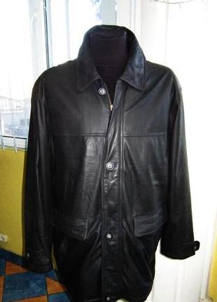 Большая мужская кожаная куртка marcucci. италия. лот 327