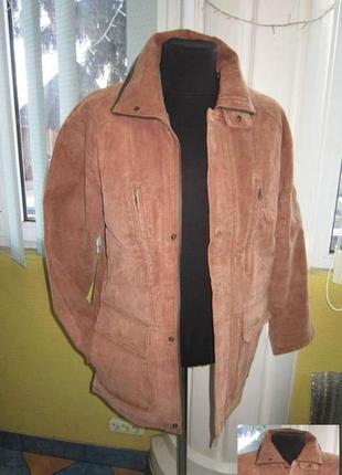 Утеплённая кожаная мужская куртка man*s. лот 345