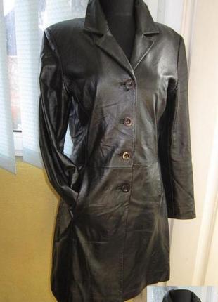 Стильная женская кожаная куртка- плащ julia s.roma . италия. л...