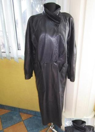 Большая женская кожаная куртка-плащ heninger. германия. лот 439