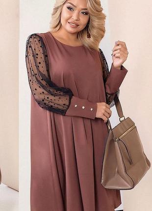 Шикарное платье свободного кроя большие размеры