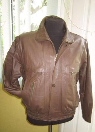 Стильная кожаная мужская куртка - трансформер (пилот) smooth. ...