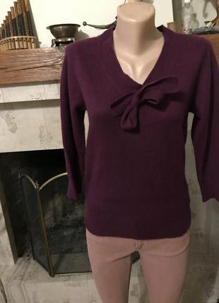 Кашемировый пуловер свитер кофта фиолетовый f&f, м