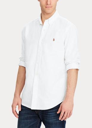 🎁1+1=3 фирменная белая нарядная рубашка ralph lauren оригинал,...
