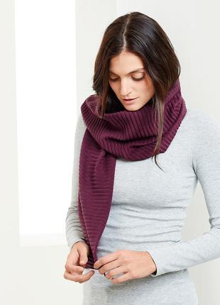 Флисовый шарф гофре от ТСМ Tchibo. Размер универсальный