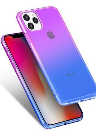 Чехол Бампер на iphone 11 Сиренево-Синий