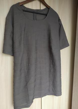 Серая фактурная блуза