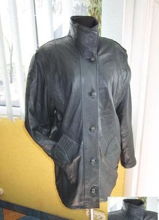 Фирменная женская кожаная куртка euro mode. германия. лот 485