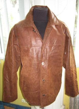 Большая  кожаная мужская куртка barisal. лот 499