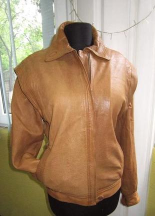 Женская кожаная куртка на меху.  германия. лот 504