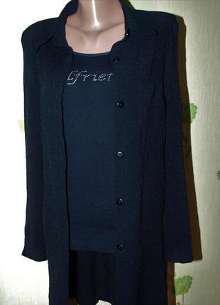 Блуза ,рубашка длинная- накидка, -лёгкий кардиган, -s-m-l- фра...