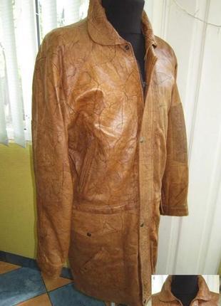 Оригинальная кожаная мужская куртка champion leather. лот 513