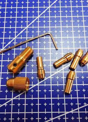 Мини патрон цанговый PCB для мини дрели + 5 цанг + ключ