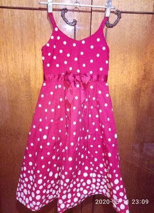 Шикарное фирменное платье сарафан девочке 6-7лет