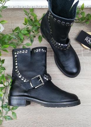 🌿36🌿европа🇪🇺 испания. кожа. крутые ботинки с заклепками