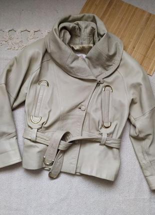 Фирменная куртка натуральная кожа 46-48р