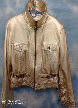 Фирменная куртка золото 48-50 р mariella burani натуральная ко...