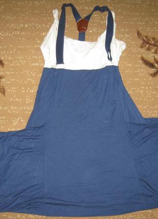 Классное модное натуральное вискозное платье с широкими карман...