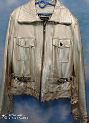 Фирменная курточка 48-50 р mariella burani натуральная кожа бо...