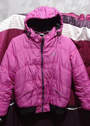 Фирменная яркая куртка пуховик adidas 46-48р