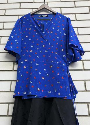 Синяя блузка большого размера