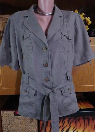 Жакет, пиджак льняной