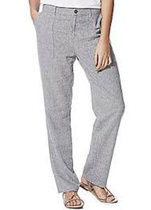 Льняные брюки в стиле casual