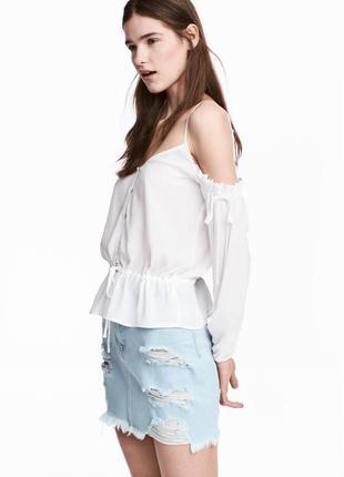 Блуза с опущенными плечиками h&m