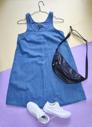 Сарафан платье деним олдскул topshop