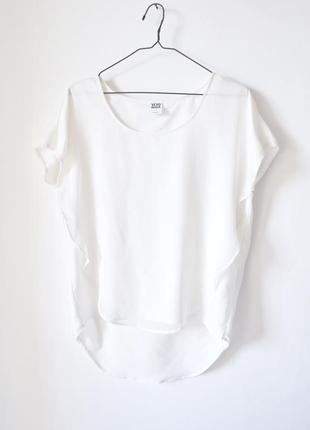 Футболка блуза двухслойная оверсайз фасон