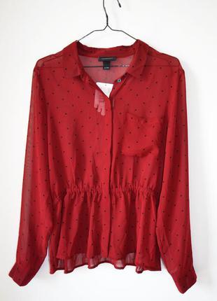 Блуза красивого винного цвета monki