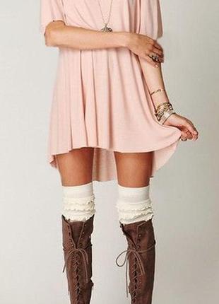 Скидкии!!!! платье-футболка нежно-персикового цвета от only