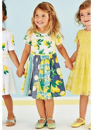 Просторное платье из комбинированной ткани next