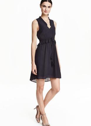 Платье с кисточками и оборкой h&m
