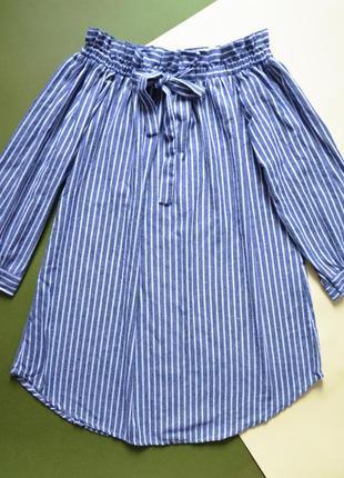 Платье рубашка на плечиках тренд лета