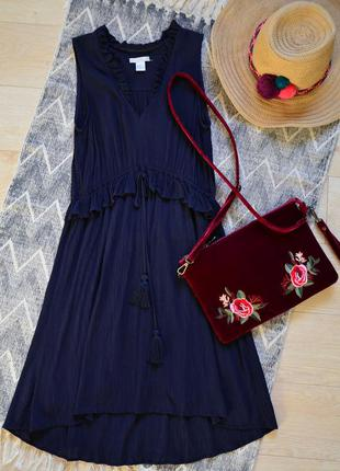 Платье с оборкой и кисточками в стиле boho от h&m