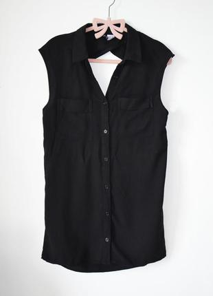 Удлиненная рубашка с открытой спинкой от topshop
