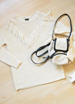 Свитер с бахромой vila clothes