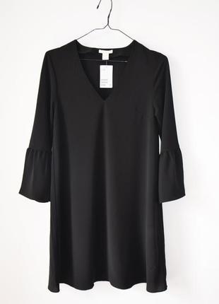 Платье с воланами на рукавах h&m