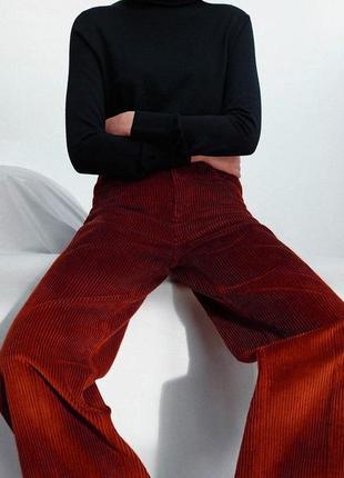 Вельветовые брюки zara