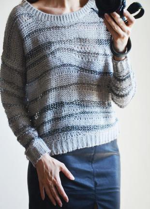 Вязанный свитер с нитью металлик sparkle & fade