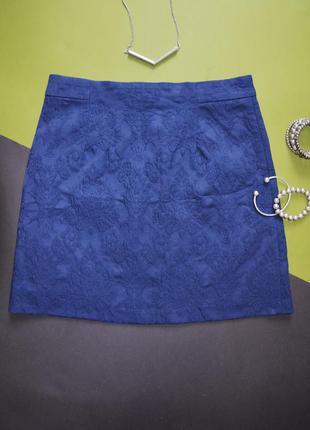 Базовая юбка мини жаккард