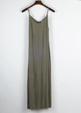 Оливковый сарафан длинный, оливковое платье длинное, платье в ...
