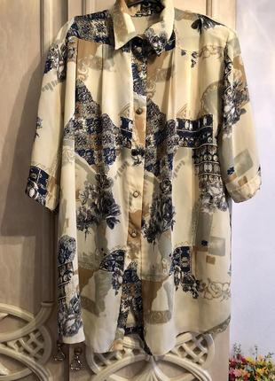 Блуза рубашка большой размер